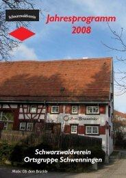 Jahresprogramm 2008 - Schwarzwaldverein