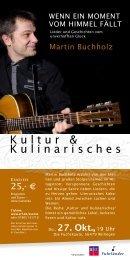 Kultur & Kulinarisches - ERF