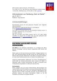 Informationen zur Sendung â