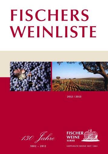 fischers weinliste 2012 | 2013 - Fischer Weine