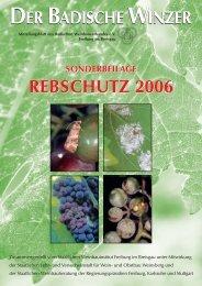 sonderbeilage rebschutz 2005 sonderbeilage rebschutz 2006