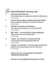 Messe-Pressedienst CMT Stuttgart 2004 - Ungarn
