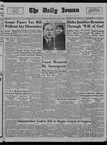April 10 - The Daily Iowan Historic Newspapers - University of Iowa