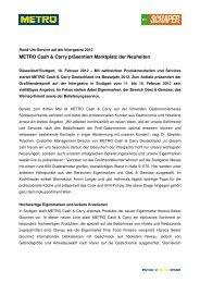 Pressemitteilung_METRO Cash & Carry auf der Intergastra 2012