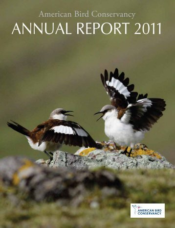 AnnuAl RepoRt 2011 - American Bird Conservancy
