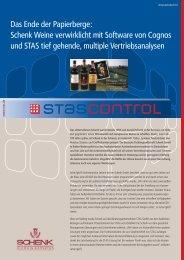 Das Ende der Papierberge: Schenk Weine ... - STAS GmbH