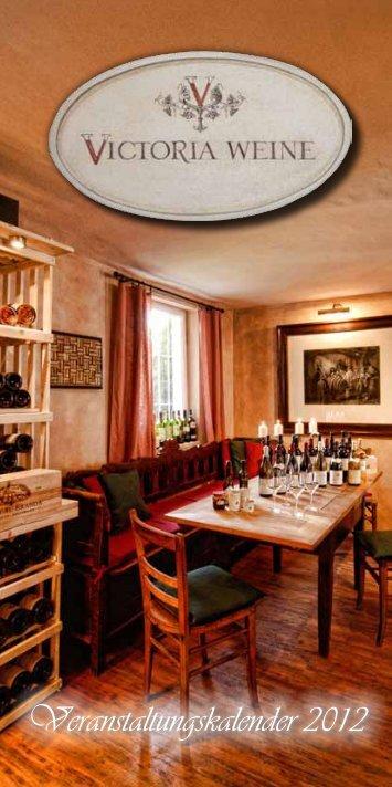 Veranstaltungskalender 2012 - Victoria Weine GmbH