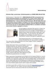 Stilsicher Wein verschenken: Entdeckungssets von SWISS WINE ...