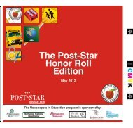Honor Roll Edition - May 2012 - The Post-Star