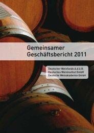 Geschäftsbericht 2011 01 - Deutsches Weininstitut