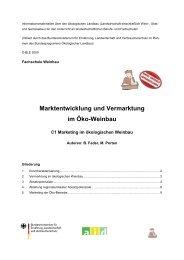 Marktentwicklung und Vermarktung im Öko ... - Oekolandbau.de