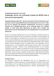 Pressemitteilung_METRO Cash & Carry auf der Internorga 2012