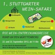 1. STUTTGARTER WEIN-SAFARI - Weinhof am Württemberg