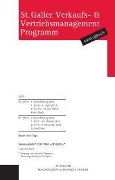 St. Galler Verkaufs- & Vertriebsmanagement Programm