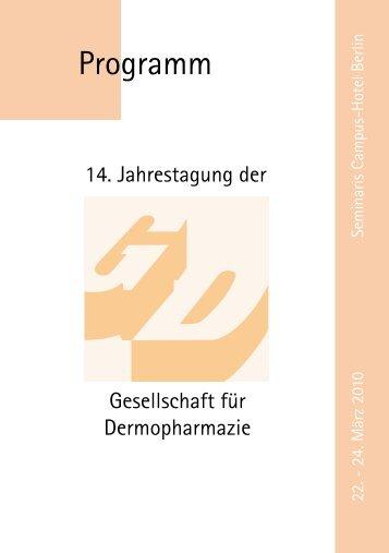14. Jahrestagung der - gd-online.de