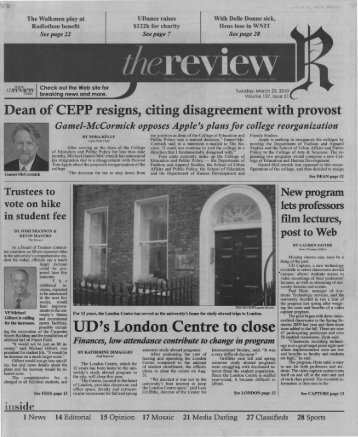 UD's London,Centre to close - University of Delaware Library ...