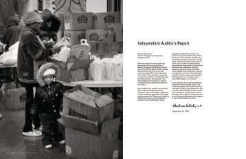 Independent Auditor's Report - Greater Chicago Food Depository
