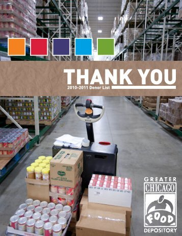 2010-2011 Donor List - Greater Chicago Food Depository