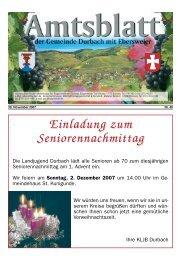 Einladung zum Einladung zum Seniorennachmittag - Durbach