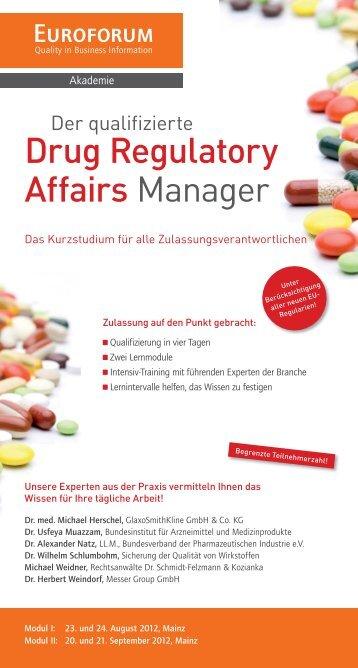 Drug Regulatory Affairs Manager - EUCOPE