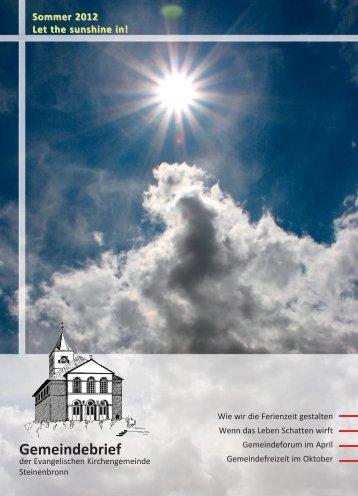 Sommer 2012 - evangelische Kirchengemeinde Steinenbronn