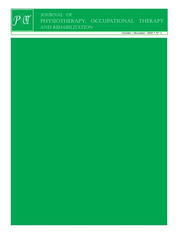 Journal of Physiotherapy, Occupational Therapy - Digital Medical ...