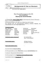 V e r h a n d l u n g s s c h r i f t - Gemeinde St. Peter am Ottersbach