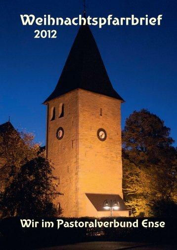 Weihnachtspfarrbrief 2012 Seite 1-26 - Pastoralverbund Ense