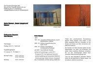 """Heinz Stoewer """"Desert playground"""" Malerei - Ausstellungen der ..."""