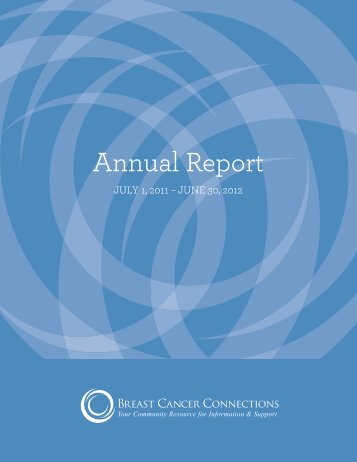 FY2012 - Breast Cancer Connections