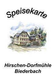 Hirschen-Dorfmühle Biederbach - Gasthof Hirschen Dorfmühle