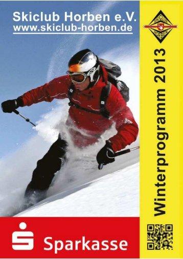 Winterprogramm 2013 - Skiclub Horben eV