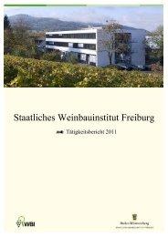 Tätigkeitsbericht WBI 2011 - Baden-Württemberg