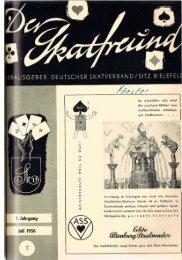 Deutsche Skatmeisterschaften 1956 am 7. Oktober in Bremen - DSkV