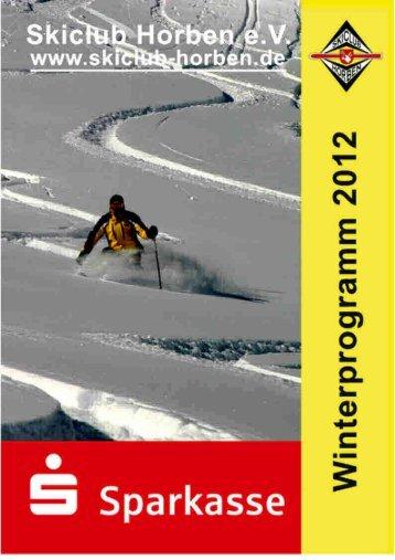 Winterprogramm 2012 - Skiclub Horben eV
