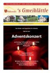 Adventskonzert - Suedlicht GmbH