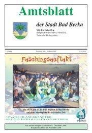 Ausgabe 11/2006 - Kurstadt Bad Berka