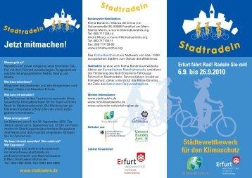 Stadtradeln - Städtewettbewerb für den Klimaschutz - Erfurt