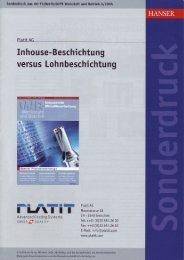 In house- Beschichtung versus Lohnbeschichtung v\l I I - PLATIT