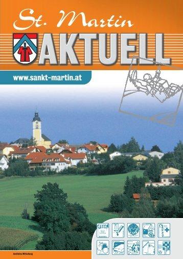 1.Wichtige Termine - Gemeinde St. Martin im Mühlkreis