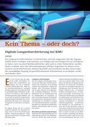 Digitale Langzeitarchivierung bei KMU – KMU LIVE ... - PDF Tools AG
