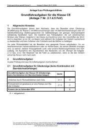Grundfahraufgaben für die Klasse CE - Fahrschule.de ...