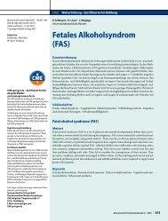 Alkohol und Schwangerschaft Fetales Alkoholsyndrom