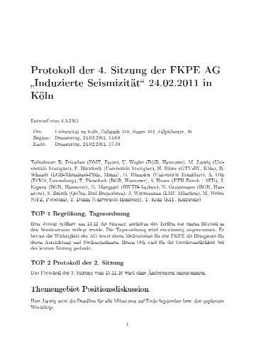 Protokoll - Universität Stuttgart