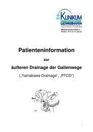 Gallengangs-Drainage - Klinikum der Stadt Ludwigshafen
