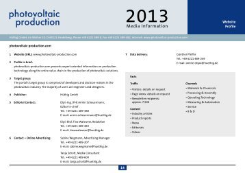 Media kit online 2012 - photovoltaic production