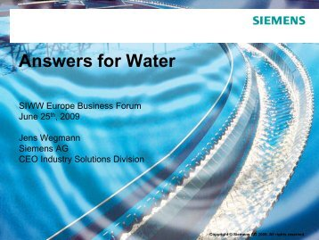 Answers for Water