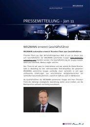PRESSEMITTEILUNG - Jan 11 - WEGMANN automotive
