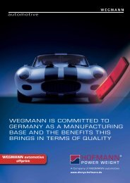 Long-term commitment to Germany as a manufacturing base