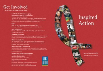 Inspired Action - AIDS Action Committee of Massachusetts